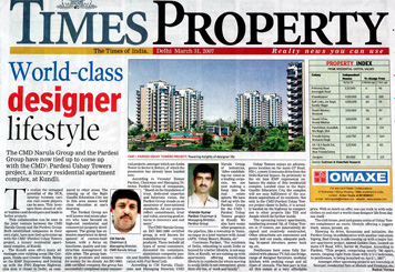 Pardesi Group Real Estate in Times Property Newspaper